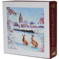 Winter Wildlife Christmas Deluxe Box of 12 Assorted Matt Finish Xmas Cards by Ling Design