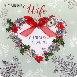 Collectable Keepsake Handmade Wife Christmas Card
