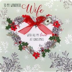 Collectable Keepsake Handmade Wife Christmas Card