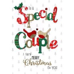 To a Special Couple - Handmade Single Christmas Card