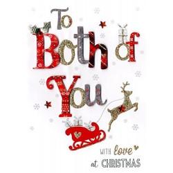 To Both Of You - Handmade Single Christmas Card