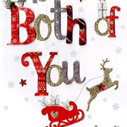 To Both Of You - Handmade Single Christmas Card