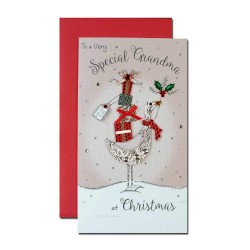 Special Grandma Embellished Single Christmas Card