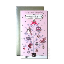 To a Beautiful Little Girl / First Christmas Single Christmas Card