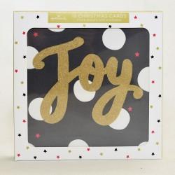 The Joy Of Christmas Glitter Hallmark Xmas 18 Cards Assortment