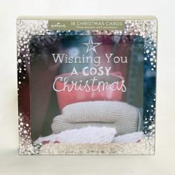 Festive Cosy Christmas Wishes Glitter Hallmark Xmas 18 Cards