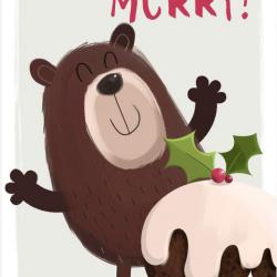 Bring On The Merry Hallmark Xmas Charity Christmas 8 Card Pack