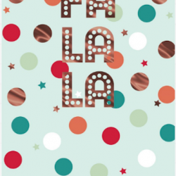 Fa La La Hallmark Xmas Christmas 8 Greeting Cards Charity Pack