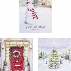 A Christmas Tale 12 Glitter Finish Traditional Cards (4 each of 3 Designs) Xmas Box by Hallmark