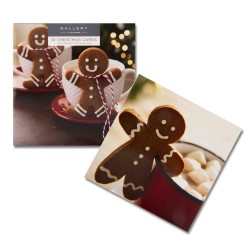 Gingerbread Man 10 Gloss Photo Finish Blank Christmas Cards (5 each of 2 Designs)  Xmas Box by Hallmark Studio Gallery