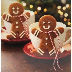 Gingerbread Man 10 Gloss Photo Finish Blank Christmas Cards (5 each of 2 Designs)  Xmas Box by Hallmark Studio Gallery