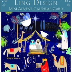 Bethlehem Nativity Mini Advent Calendar Card for Christmas Xmas by Ling Design