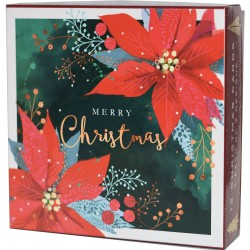 Christmas Foliage Deluxe Box of 12 Assorted Matt Finish Xmas Cards by Ling Design