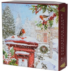 Christmas Post Mail Box Deluxe Box of 12 Assorted Matt Finish Xmas & New Year Cards by Ling Design