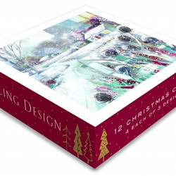 A Winters Tale Christmas Deluxe Box of 12 Assorted Matt Finish Xmas Cards by Ling Design