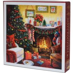 Warm and Cosy All Set For Xmas Christmas Deluxe Box of 12 Assorted Matt Finish Xmas Cards by Ling Design