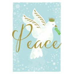Dove of Peace Religious Luxury Foil Art Xmas BHF Charity Christmas Pack (5 Cards,1 Design)
