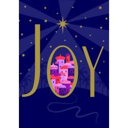 JOY Star over Bethlehem Religious Luxury Foil Art Xmas BHF Charity Christmas Pack (5 Cards,1 Design)