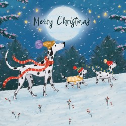 Dalmatians Dogs Magic Xmas Charity Christmas Cards Pack (5 Cards,1 Design)