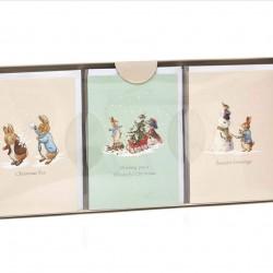 Peter Rabbit 18 Pack of Children's Kids School Christmas Cards - 3 Designs