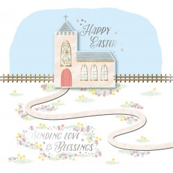 Sending Love & Blessings Happy Easter Luxury Handmade 3D Card By Talking Pictures