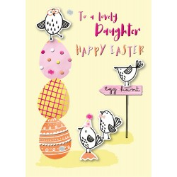 Lovely Daughter Happy Easter Luxury Handmade Card By Talking Pictures
