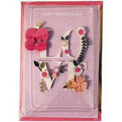 Luxury Keepsake Mother's Day Card - Floral 3D LOVE - Signature From Hallmark