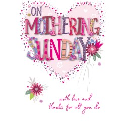 On Mothering Sunday Large Luxury 3D Handmade Mother's Day Card By Talking Pictures