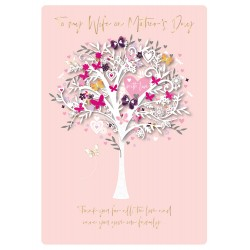 To My Wife On Mother's Day Large Luxury 3D Handmade Card By Talking Pictures