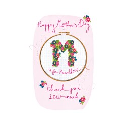 Thank You Sew Much Large Luxury 3D Handmade Mother's Day Card By Talking Pictures