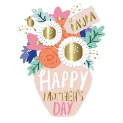 Flower Vase To Mum Happy Mother's Day Luxury Handmade Card By Talking Pictures