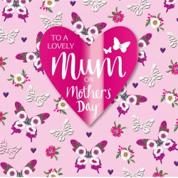 To A Lovely Mum On Mother's Day Luxury 3D Handmade Card By Talking Pictures