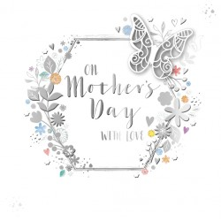 On Mother's Day With Love Luxury Laser Cut Handmade Card By Talking Pictures