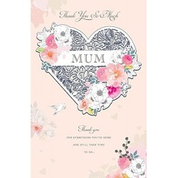 Thank You So Much Mum - Large Luxury Mother's Day Card