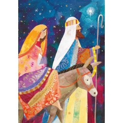 On The Way To Bethlehem Virgin Mary - Ling Design Religious Art - British Heart Foundation Charity Christmas Cards - Pack of 6 Xmas Cards