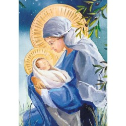 Madonna And Child Ling Design Religious Art - British Heart Foundation Charity Christmas Cards - Pack of 6 Xmas Cards