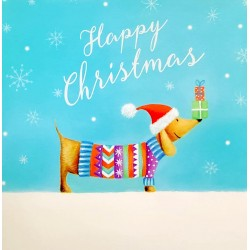Dog in Xmas Jumper Gloss Finish Large Single Charity Christmas Xmas Card