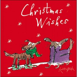 Christmas Buddies Puppy Dogs in Snow Quentin Blake Art Pack of 5 Charity Christmas Greeting Cards of 1 Design