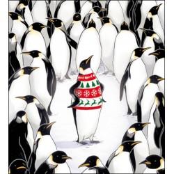 Christmas Jumper Fairisle Penguin Stunning Art Pack of 5 Charity Christmas Greeting Cards of 1 Design