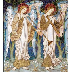 Box of 8 Religious Art Nouveau Musical Angels Christmas Cards (WDM-474941) - Traditional Stylish Cards by Woodmansterne