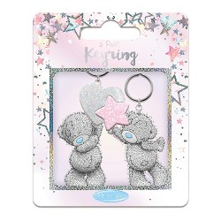 Star and Heart 2 Part Keyring Set Me to You Tatty Teddy Bear Gift