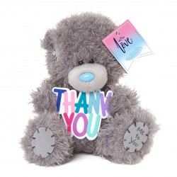 """Me to You 5"""" Tatty Teddy Bear Holding Thank You Plaque"""