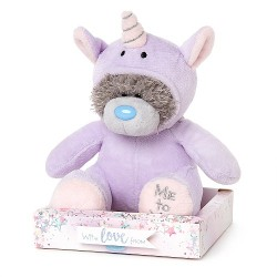 "7"" Dressed as Purple Unicorn Me to You Tatty Teddy Bear"