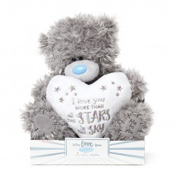 """9"""" Love You More Than The Stars Padded Heart Me to You Tatty Teddy Bear"""