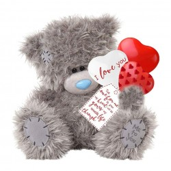 """12"""" Me to You Tatty Teddy Bear \holding Love You Balloons Valentines Day Gift"""