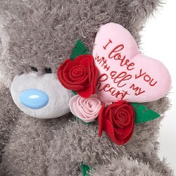 """24"""" Padded Heart & Bouquet Me to You Tatty Teddy Bear Giant Valentines Day Gift"""