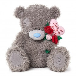 "24"" Padded Heart & Bouquet Me to You Tatty Teddy Bear Giant Valentines Day Gift"