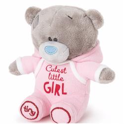 "Me to You 4"" Tiny Tatty Teddy Cutest Little Girl Onesie Bear"