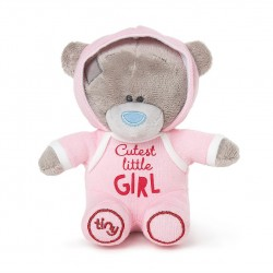 "Me to You 4"" Tiny Tatty Teddy Cutest Little Girl Onesie Bear"