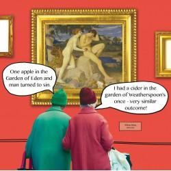 Adam & Eve William Strang - Funny Blank Greeting Card - Irene & Gladys 066435